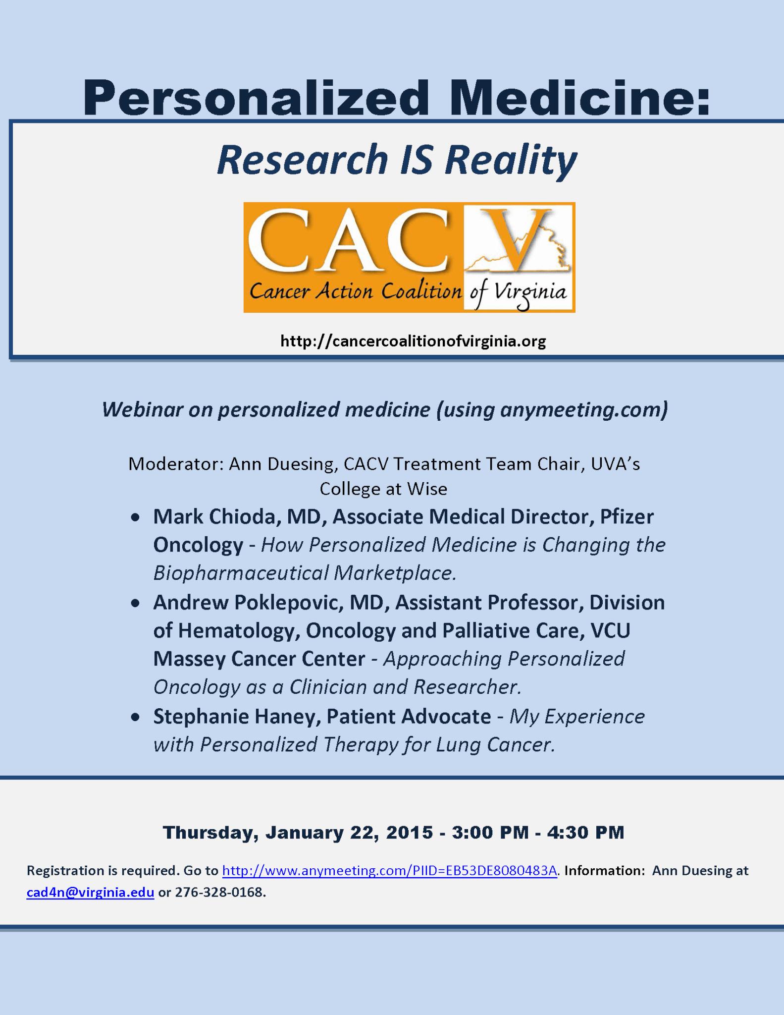 CACV Treatment Team Webinar flyer