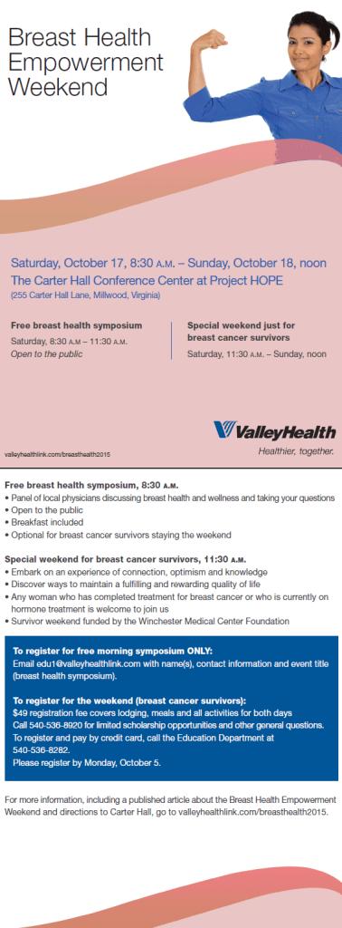 Breast Health Empowerment Weekend