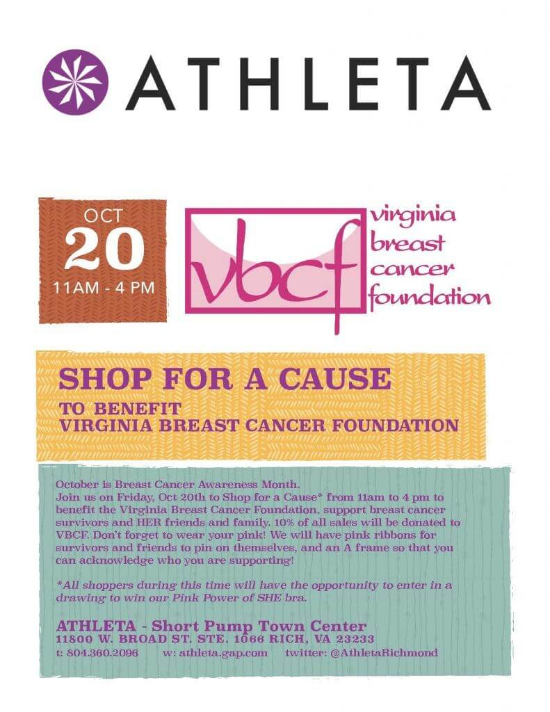Athleta Shop for a Cause at Short Pump Town Center