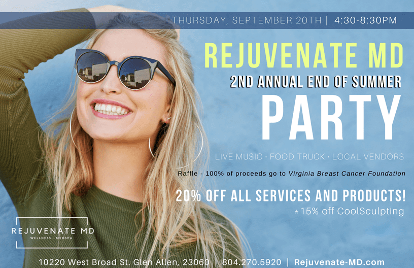 2nd Annual End of Summer Party - Rejuventate MD @ Rejuvenate MD